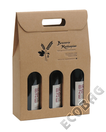 Sales of  Cartonbox 3 bottles wine 75cl