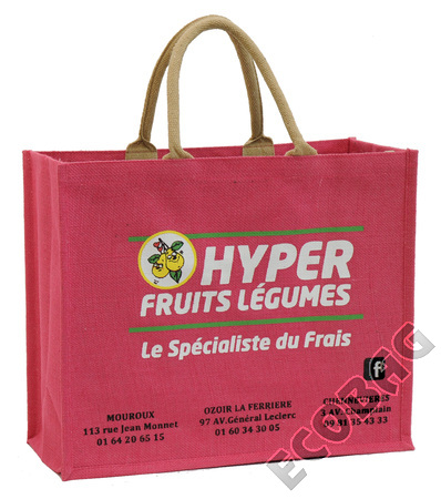 Sales of Cabas jute Magasin Fruits et Légumes