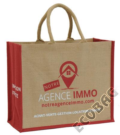 Sales of Cabas toile de jute Agence Immobilière