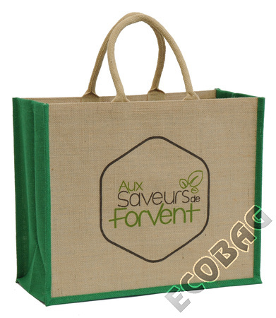 Sales of Cabas toile jute Magasin BIO